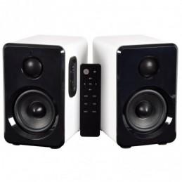 Active Bluetooth Bookshelf Speakers White