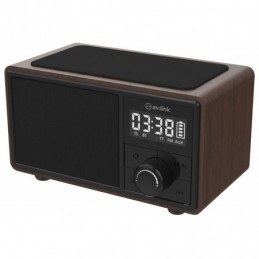 Bluetooth Speaker with Clock Radio and Wireless Charging Plate