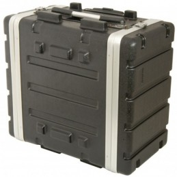 "6U ABS 19"" rack trolley case"
