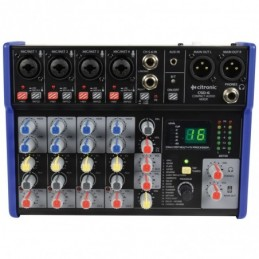 CSD-6 Compact Mixer with BT receiver + DSP Effects