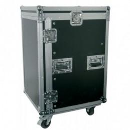 "16U 19"" rack case with wheels"