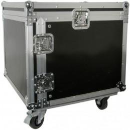 "8U 19"" rack case with wheels"