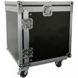 "10U 19"" rack case with wheels"
