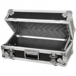 Tilting 4U rack case for mixer/media player