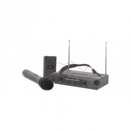 VHF handheld + neckband wireless system 173.8 + 174.8MHz