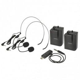 U-MIC Dual Neckband UHF System 863.2+864.8MHz