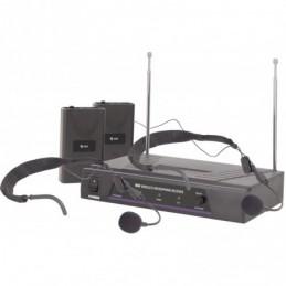 VHF dual neckband wireless system - 174.1 + 175.0MHz