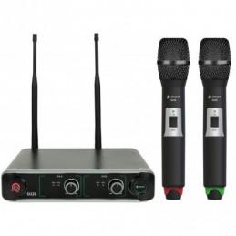 SU20 Dual UHF Handheld Microphone Set Red + Green
