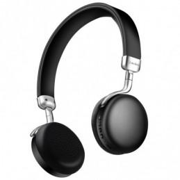 Metallic Bluetooth Headphones Black