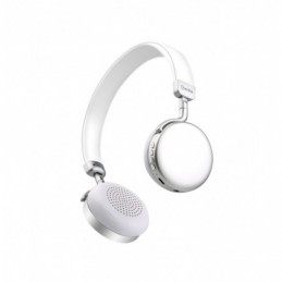 Metallic Bluetooth Headphones  Silver