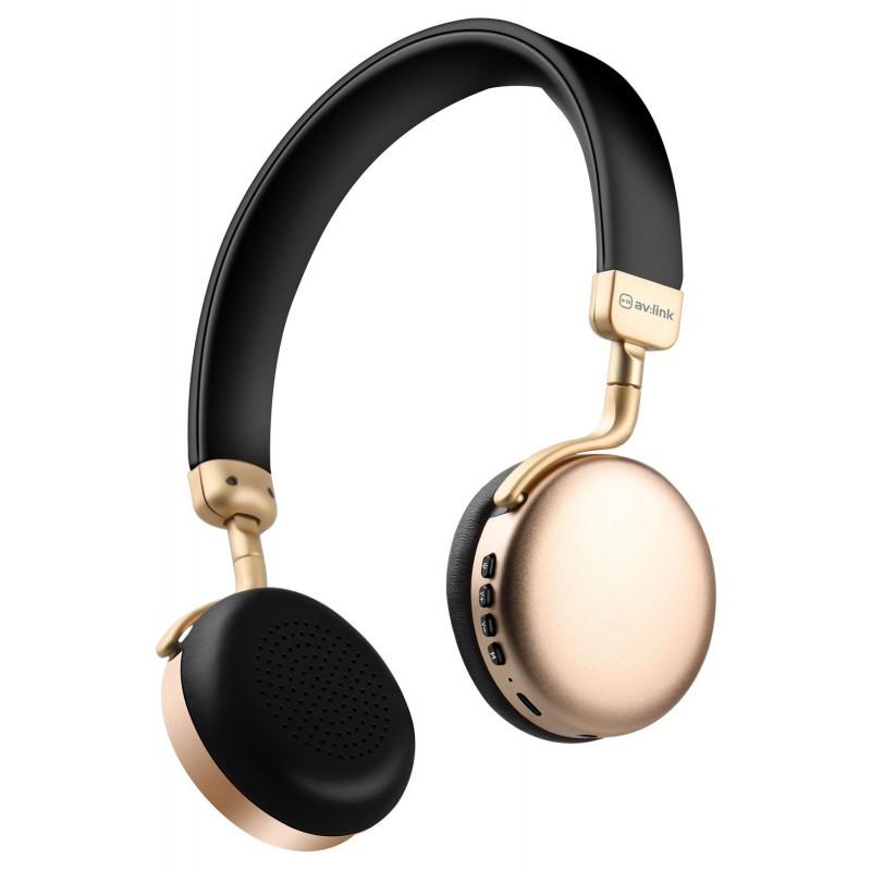 Metallic Bluetooth Headphones Gold