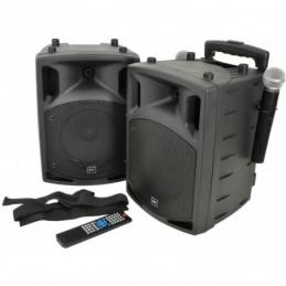 PAV8 portable PA set + 2 UHF mics