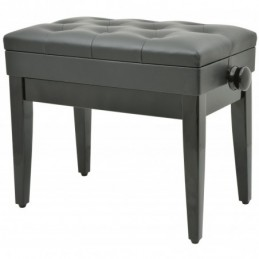 Piano bench with storage - black