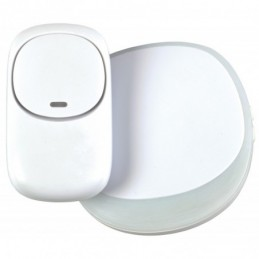 Wireless Plug-in Doorbell with LED Alert White