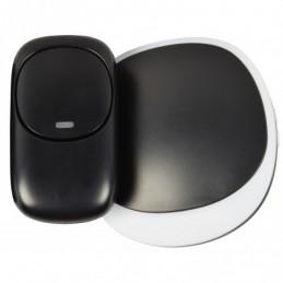 Wireless Plug-in Doorbell with LED Alert Black
