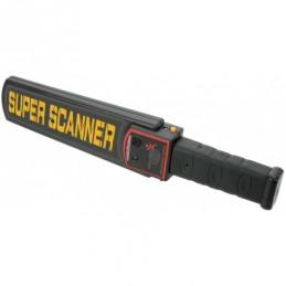 Handheld metal detection security wand