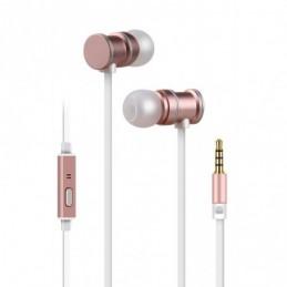 Magnetic Earphones w/HF Rose