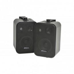 """100V Line Speakers 4"""" 30W Black Pair"""