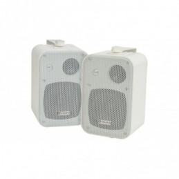 """100V Line Speakers 4"""" 30W White Pair"""