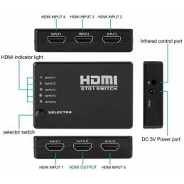 5X1 Port HDMI Switch 1080P