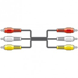 3 x RCA plugs to 3 x RCA plugs lead 1.5m