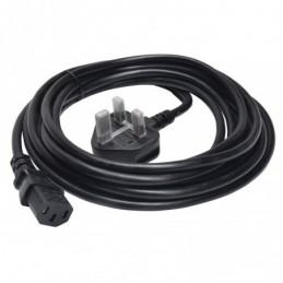 Power Lead UK Plug - IEC Black 5.0m